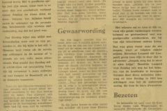uitsnede krant art.uit de Gooi en Eemlander 24-04-1971